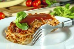 Lasagne obraz stock