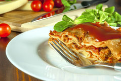 Lasagne Arkivbild