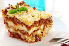 Lasagne Photo stock