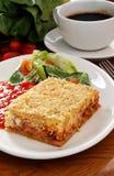 lasagne photographie stock