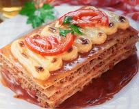 Lasagne. Stockbild
