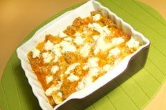Lasagne al forno Fotografie Stock