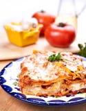 Lasagne al forno Fotografia Stock