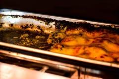 Lasagne al forno adorabili Immagini Stock Libere da Diritti