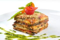 Lasagne al forno appetitose Immagine Stock