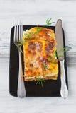Lasagne al forno appetitose Fotografia Stock