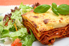 Lasagne al forno Royalty Free Stock Photography