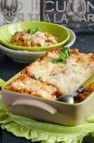 Lasagne al forno bolognese Immagini Stock