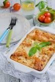 Lasagne al forno bolognese Immagine Stock Libera da Diritti
