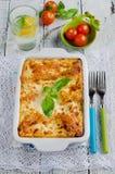 Lasagne al forno bolognese Fotografia Stock