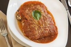 Lasagne al forno del vegano Immagini Stock