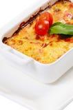 Lasagne al forno della Camera con le verdure ed i funghi Immagine Stock