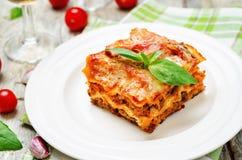 Lasagne al forno della carne Fotografia Stock Libera da Diritti