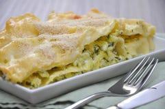 Lasagne al forno dello zucchini fotografia stock