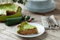 Lasagne al forno di Natale Fotografia Stock