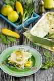 Lasagne al forno di verdure Immagini Stock