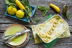 Lasagne al forno di verdure Fotografia Stock