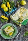 Lasagne al forno di verdure Fotografia Stock Libera da Diritti