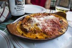 Lasagne al forno italiane appetitose Immagini Stock Libere da Diritti