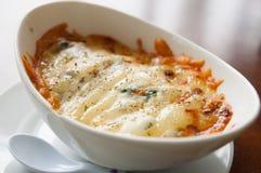 Lasagne al forno italiane di stile Fotografia Stock