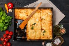 Lasagne al forno italiane tradizionali deliziose Fotografie Stock Libere da Diritti