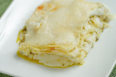 Lasagne al pesto Stock Images