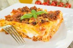 Lasagne alla Bolognese, Italian Food Royalty Free Stock Photo