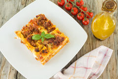 Lasagne alla Bolognese, Italian Food Stock Image