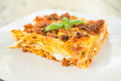 Lasagne alla Bolognese, Italian Food Stock Photos