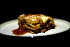 Lasagne. Authentic Italian recipe. Minced meat, tomato, bechamel sauce Stock Images