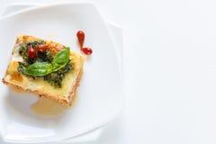 Lasagne avec le pesto image stock