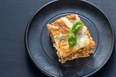 Lasagne avec le pesto images libres de droits