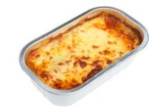 Lasagne-betriebsbereite Mahlzeit Stockbild