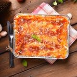 Lasagne bolognese Royaltyfri Bild
