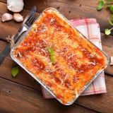 Lasagne bolognese Arkivbild
