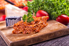 Lasagne bolognese Royalty Free Stock Images