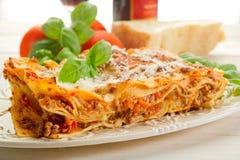 Lasagne com ragu Foto de Stock
