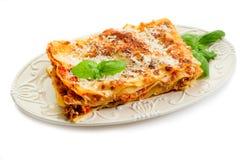 Lasagne com ragu Fotografia de Stock