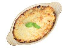 lasagne cuit au four de paraboloïde photo libre de droits