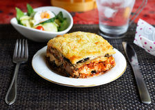 Lasagne d'aubergine Photo libre de droits