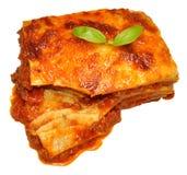 Lasagne de boeuf Photographie stock libre de droits