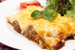 Lasagne della carne Fotografie Stock