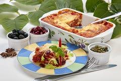 Lasagne Dobry apetyt dla everyone fotografia stock