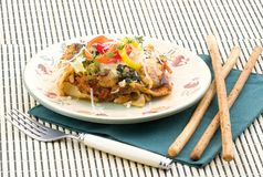 Lasagne effectué avec des légumes Images stock