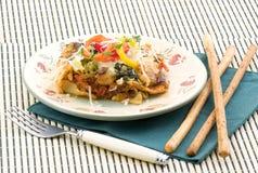 Lasagne gebildet mit Gemüse Stockbilder