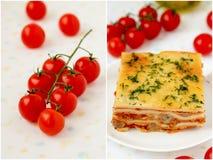 Lasagne italien. Images libres de droits