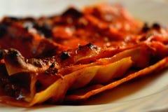Lasagne italien Photographie stock libre de droits