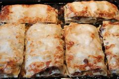 Lasagne just from the oven Royalty Free Stock Photography