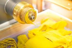 Lasagne machine pasta sfoglia lasagna automated industrial italian pasta machinery Stock Photos