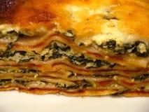 Lasagne-Makro Stockfoto